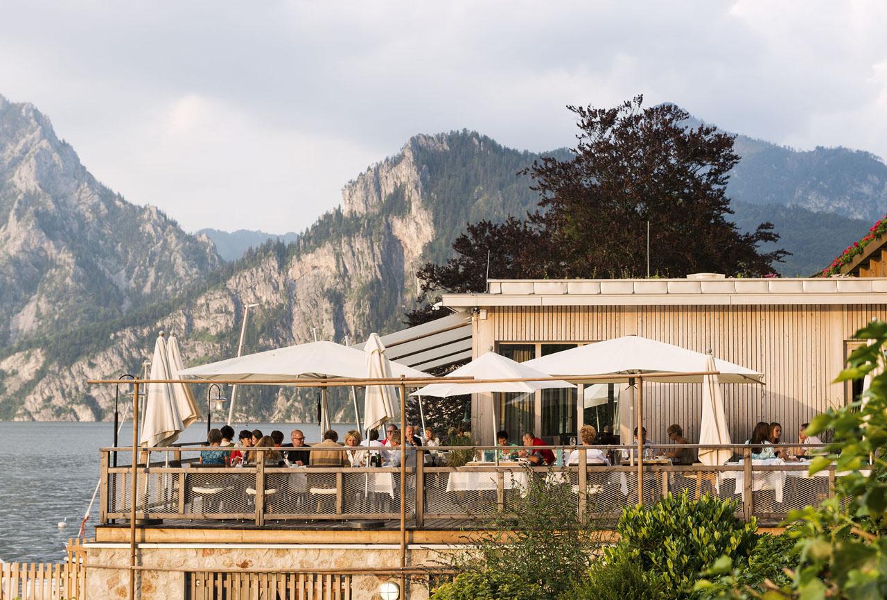 Gourmet bootshaus am traunsee a list for Design hotel salzkammergut
