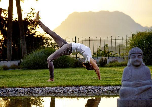 Ayurveda Resort Sonnhof Yoga Garten