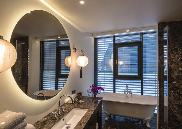 Badezimmer im Hotel Lamée, Wien