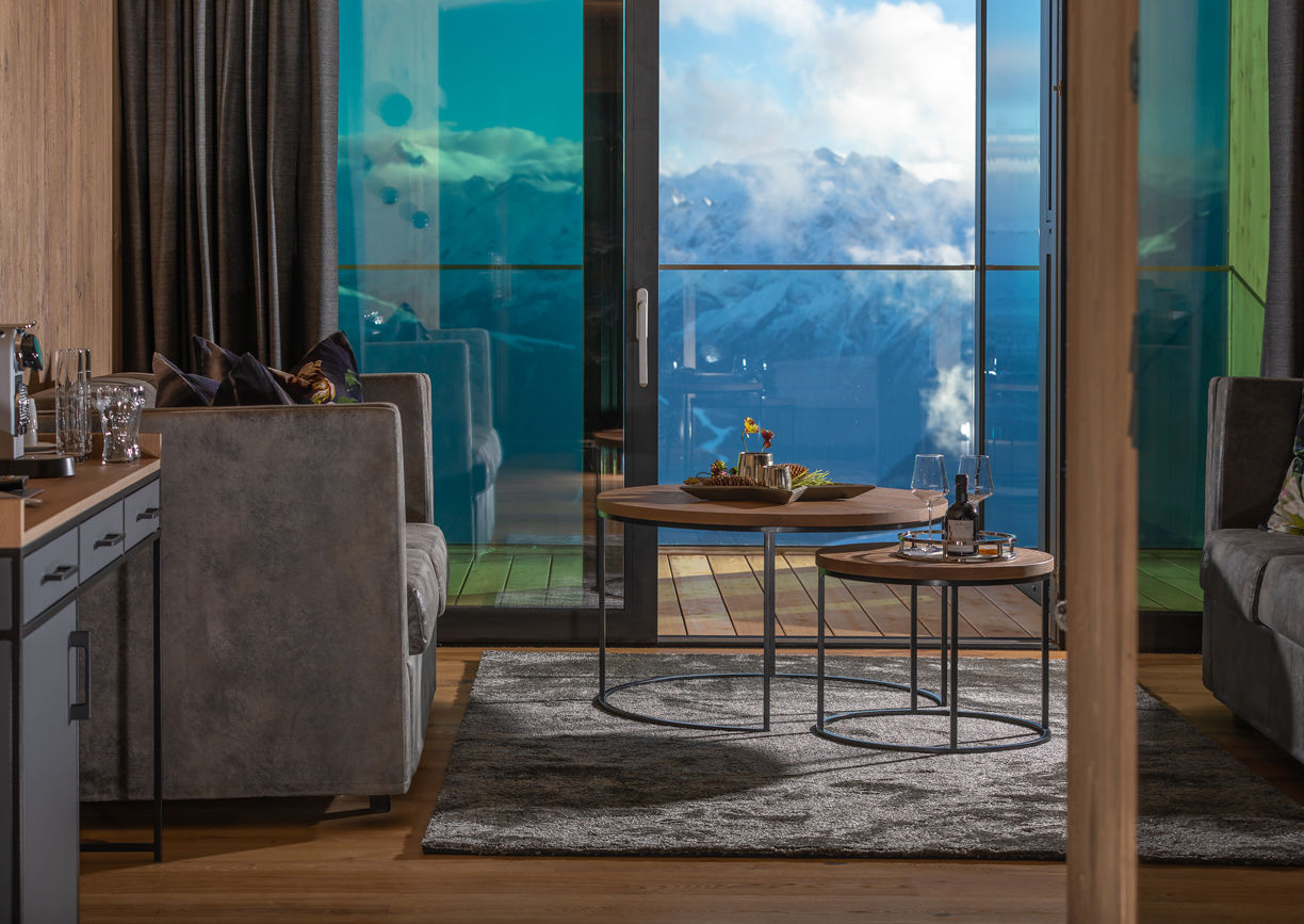 Bergrestaurant Mountain View Hochzillertal Luxus Apartments Tirol Innenansicht