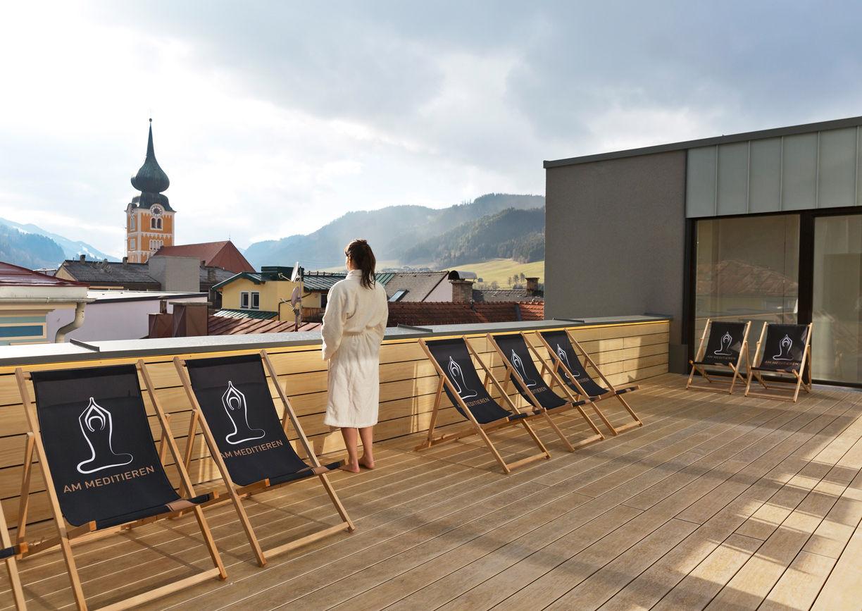 Boutiquehotel Brunner Schladming Dachterrasse