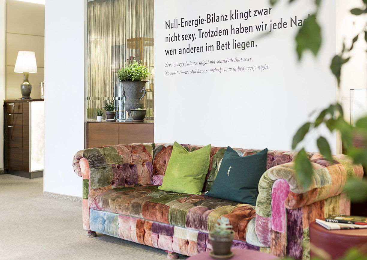 Boutiquehotel Stadthalle upcycling Lobby Wien