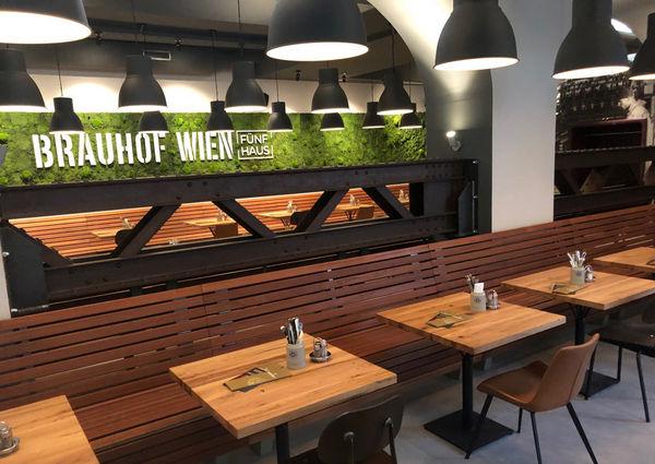 Brauhof Wien Fünfhaus Restaurant Innenansicht