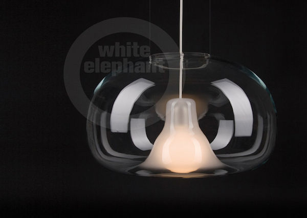 Bubba-Lampe, white elephant