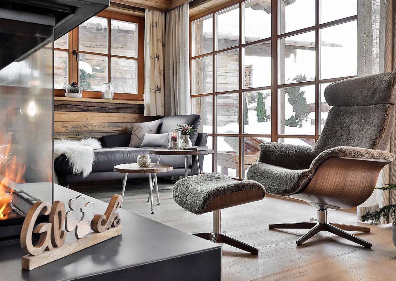 Chalet Resort LaPosch Tirol Winter Hideaway Innenansicht Wohnraum