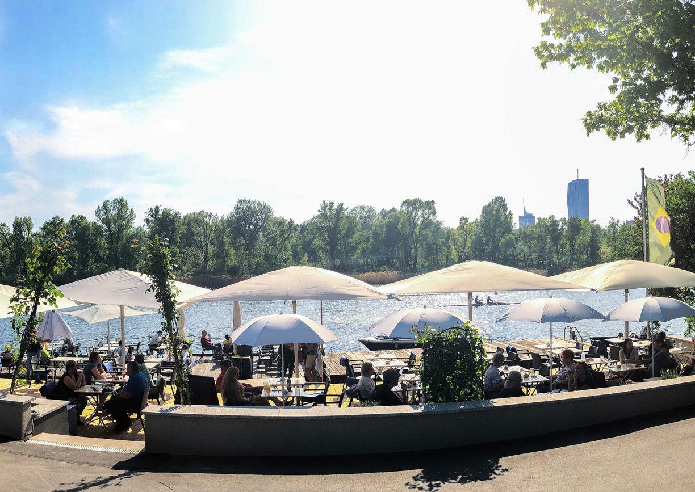 Das Bootshaus Wien Restaurant Terrasse