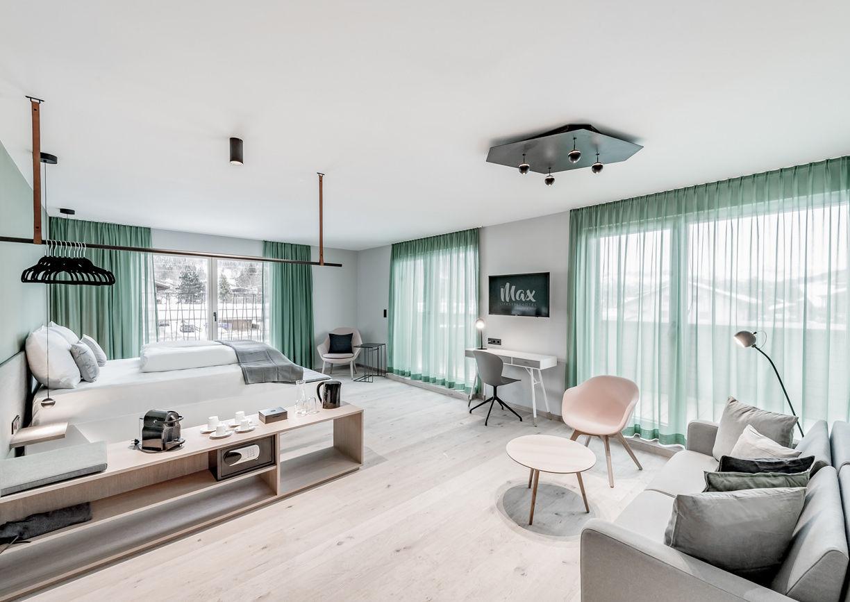 Das Max Design Lifestyle Hotel Seefeld Tirol Zimmer Innenansicht