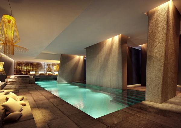 Der Spabereich des Zhero Fashion-Hotels