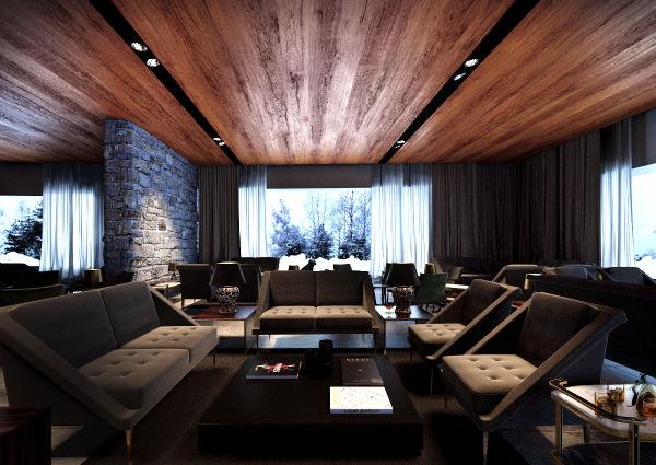 Die Lobby - avantgardistisch, kultiviert und detailverspielt.