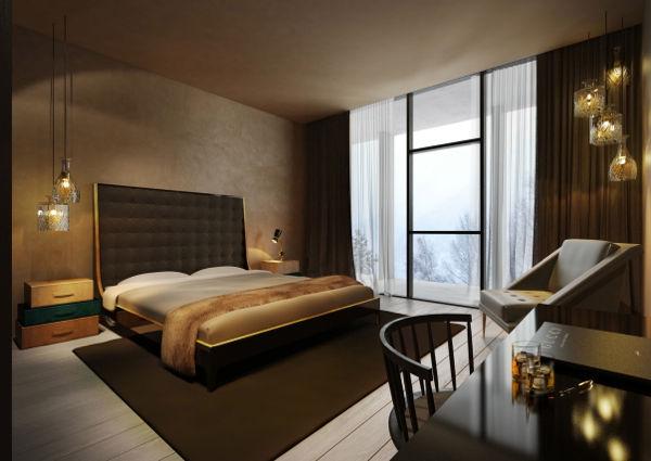 Die Zimmer des Hotels - kein bisschen weniger stylisch als die Lobby.
