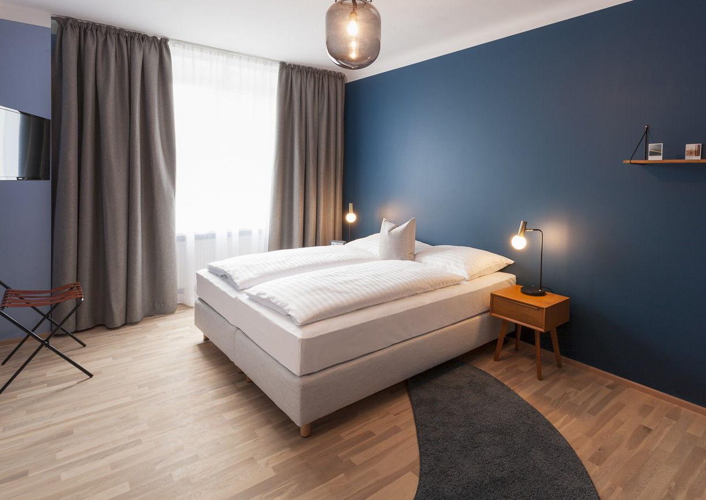 Etagerie Linz Hotel Apartement Innenansicht Design Schlafzimmer