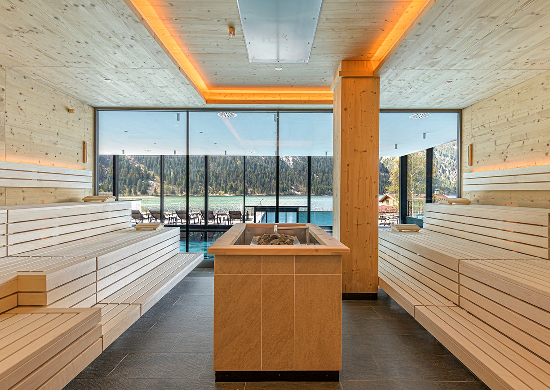 Finnische Saune im haldensee Hotel im Tannheimer Tal in Tirol