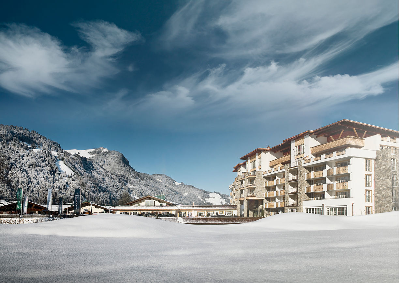 Grand Tirolia Hotel Kitzbuhel Hilton Aussenansicht