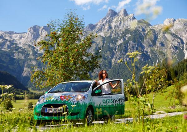 Grashüpfer-Citroen Werfenweng Sanfte Mobilität