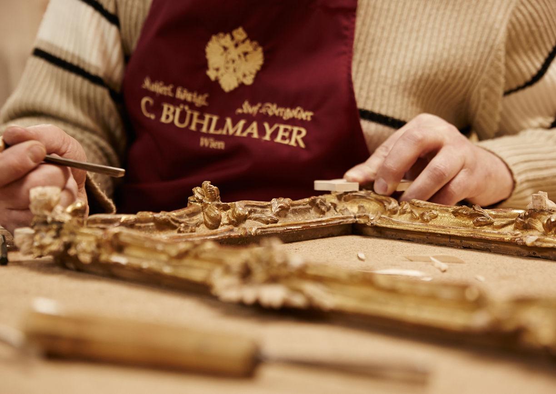 Handwerker, Werkzeug, Vergolder, Rahmen
