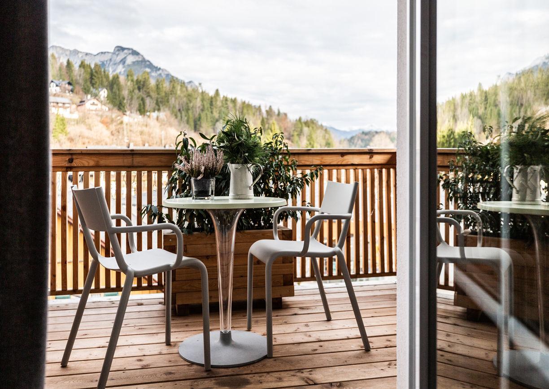 Haus Anna Plochl Hotel Bad Aussee Steiermark Salzkammergut Balkon Aussicht Natur