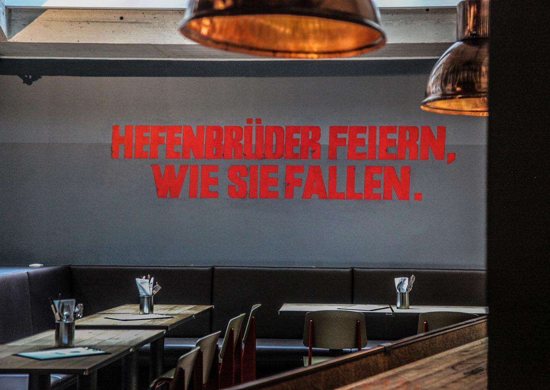 Hefenbrüder Wien Restaurant Lokal Industrial Design Innenansicht