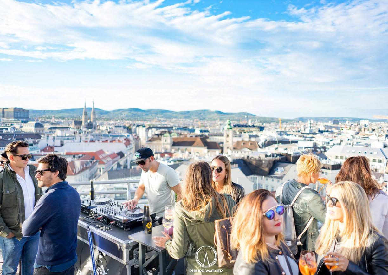 Hochhaus Herrengasse Rooftop Bar Wien
