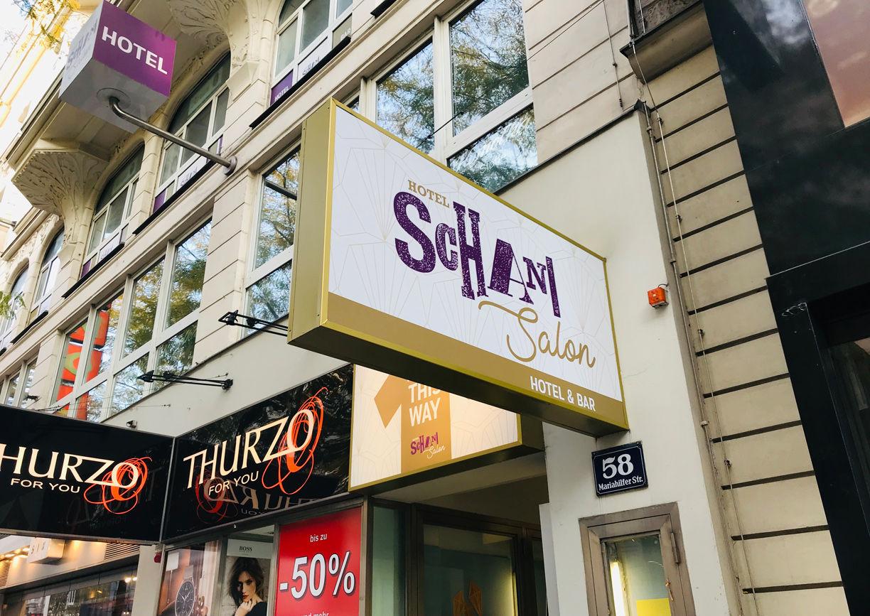 Hotel Schani Salon Wien Außenansicht