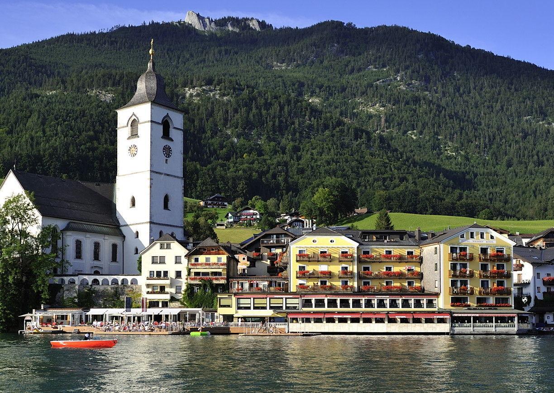 Hotel Weisses Rössl St. Wolfgang Wolfgangsee Salzkammergut Oberösterreich Aussenansicht