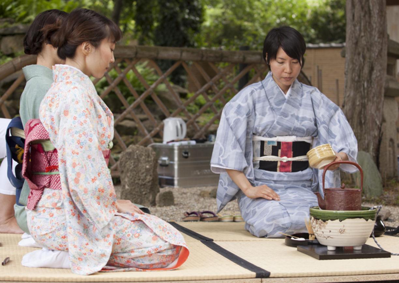 japanische Teezeremonie Garten