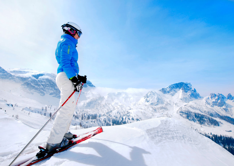 Kleine Skigebiete in Kärnten Winter Berge Skifahren