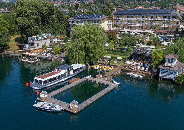 Kollers Hotel Millstaetter See Kaernten Aussenansicht Seebad Sommer
