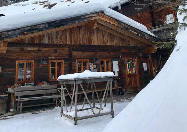 Restaurant Gannerhof Innervillgraten Winter Aussenansicht
