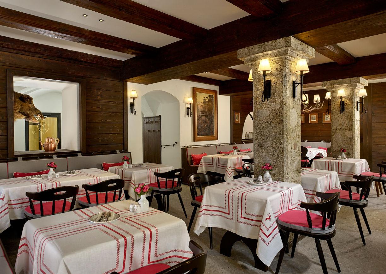 Restaurant Goldener Hirsch Salzburg Getreidegasse Restaurant Herzl Innenansicht