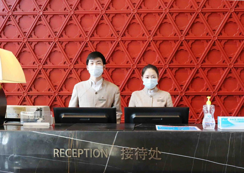 Rezeption im Kempinski Hotel in China