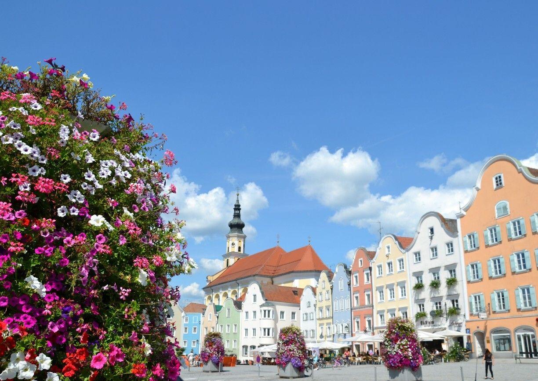 Schärding Oberösterreich Barock Sommer Stadt