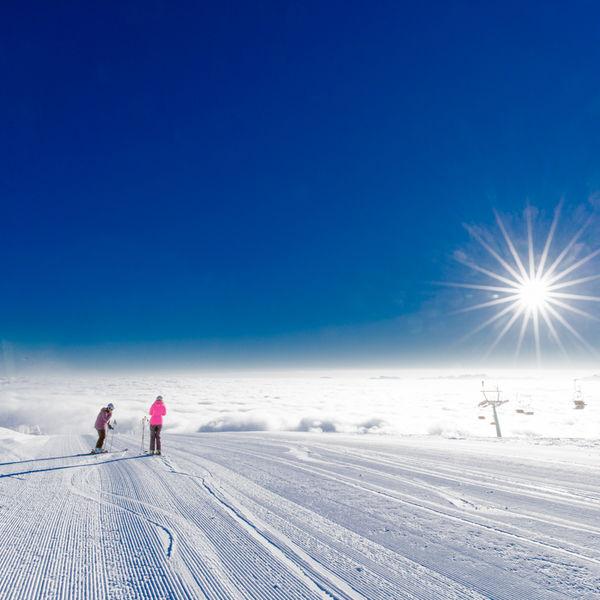 Skifahren Gerlitzen Alpe Skipiste Winter Schnee
