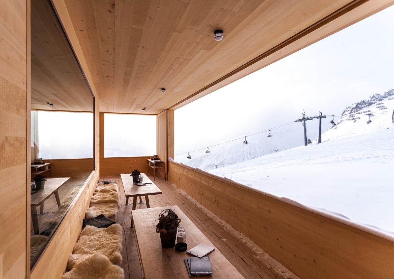 Skihütte Der Wolf Lech am Arlberg Terrasse