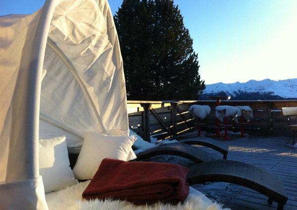 Terrasse Firnhütte Neuhüttenbahn Sessellift