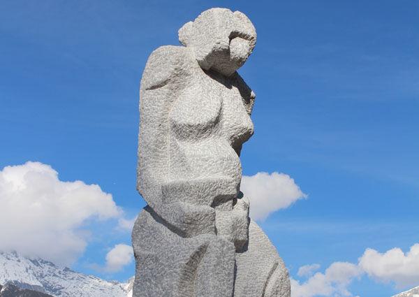 Tirol, Stams, Kreiselkunst, Kreisverkehr, Skulptur, Josef Uiberlacher