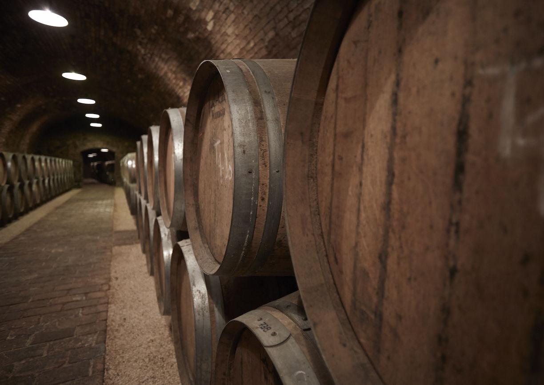 Weinfässer, Holz, Keller