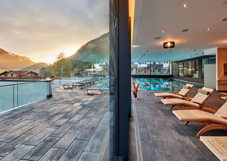 Wellness-Bereich im haldensee Hotel Tannheimer Tal Tirol