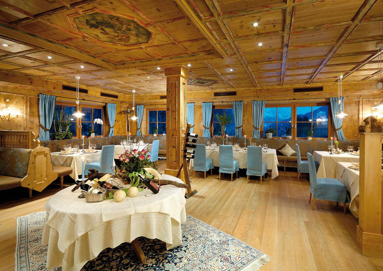 Wellness Hotel Krallerhof Leogang Salzburger Land Restaurant Kulinarik Innenansicht