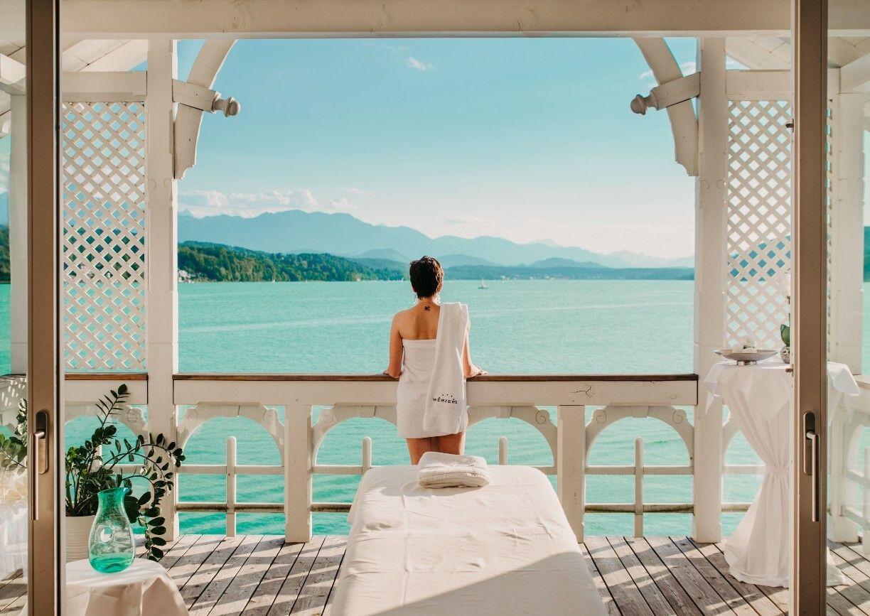 Werzers Hotel Resort Pörtschach Badehaus Wellness Aussicht Woerthersee