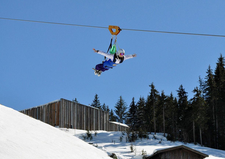 Winter Tipps Skicircus Saalbach Hinterglemm Leogang Fieberbrunn Saalfelden Salzburg Flying Fox