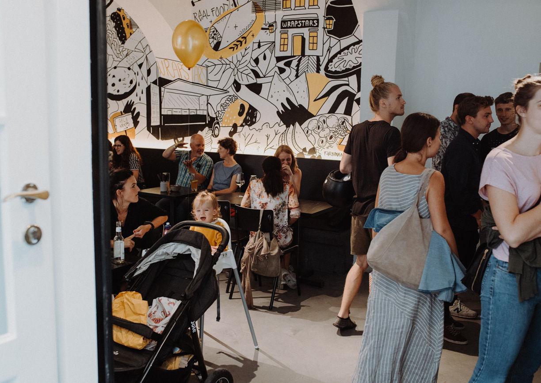 Wrapstars Restaurant Lokal Wien Mariahilf Innenansicht
