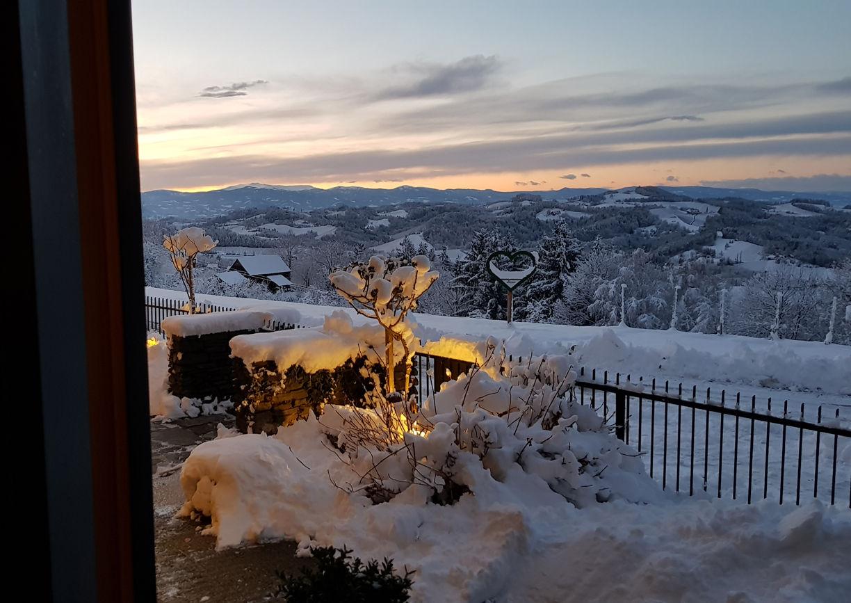Wurzenberg Hotel Aussicht Winter