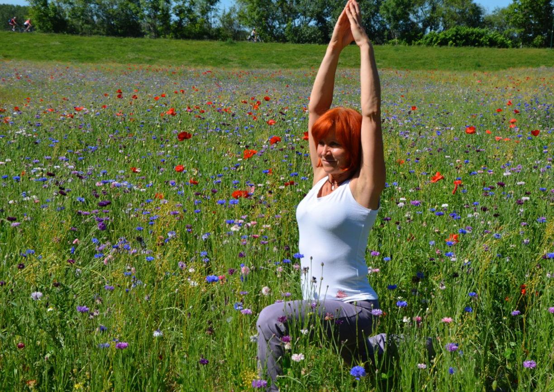 Yoga-Einheiten im Grünen