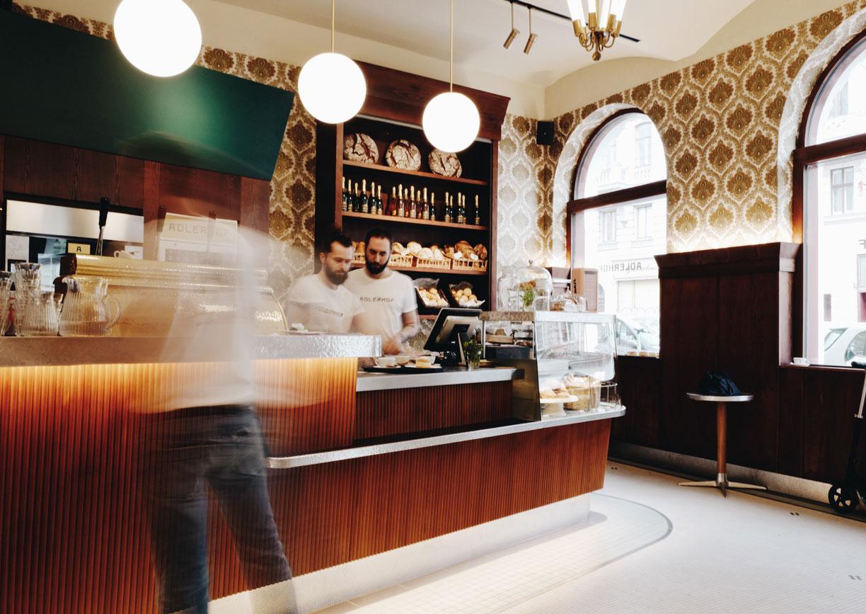 Adlerhof Wien Lokal Restaurant Bar Neubau Innenansicht