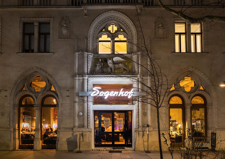 Dogenhof Restaurant Lokal Wien Supersense Praterstrasse Aussenansicht
