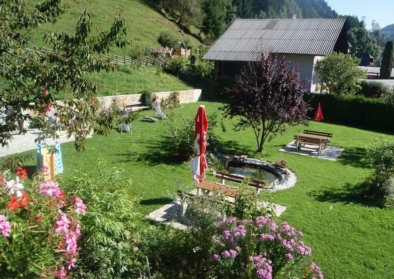 Landgasthof Willingshofer Almenland Steiermark Hotelgarten