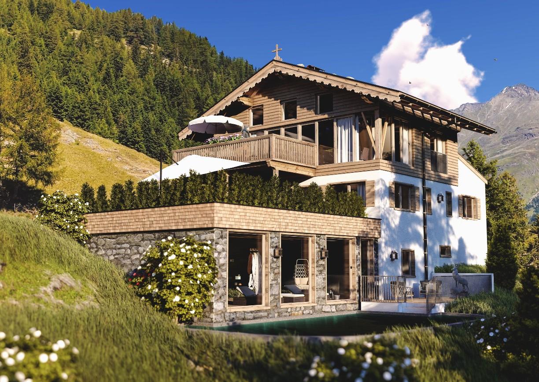 Leni Mountain Chalets Apartments Sölden Tirol Aussenansicht