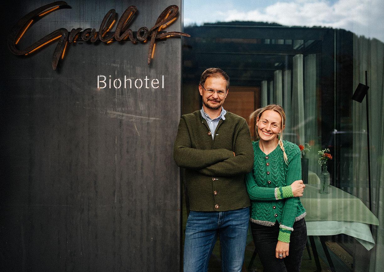 Michael und Corinna Knaller vom Gralhof
